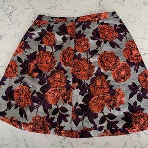 J. Crew Skirts - J.Crew metallic floral jacquard pleated skirt